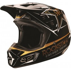 Capacete Fox V2 Rockstar Black/Gold