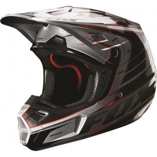 Capacete Fox V2 Race Silver