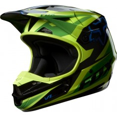 Capacete Fox V1 Race Green 2014