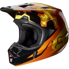 Capacete FOX V2 Anthem Orange 2014