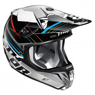 Capacete Thor Verge Stack (Black/Silver)