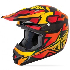Capacete Fly Kinetic Block Out - Orange/Black