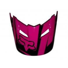 Visor (Pala) Capacete Fox V1 Costa - Black/Pink