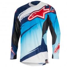 Camisa Alpinestars Techstar Venom 16 Azul/Branca