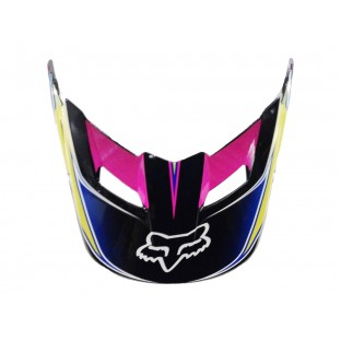Visor (Pala) Capacete Fox V1 Race - Yellow/Blue