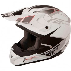 Capacete Fly Kinetic Impulse Branco/Preto