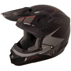 Capacete Fly Kinetic Impulse Cinza/Preto