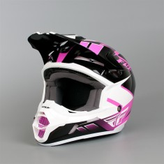Capacete Fly Kinetic Impulse Rosa/Preto/Branco