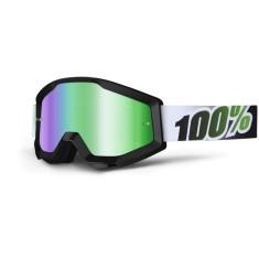 Óculos 100% Strata Black Lime Lente Espelhada