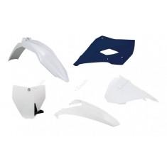 Kit Plástico Husqvarna Tc 85 2014-2017 Branco Azul Rtech