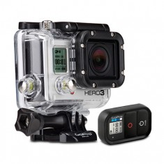 GoPro Câmera 12MP Wi-Fi Hero3 Black Edition Adventure + Caixa à prova dágua + Wi-Fi Remoto + Fivela + Fivela J-Hook + Pivô